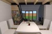 Vizualizace interiéru / obývací místnosti